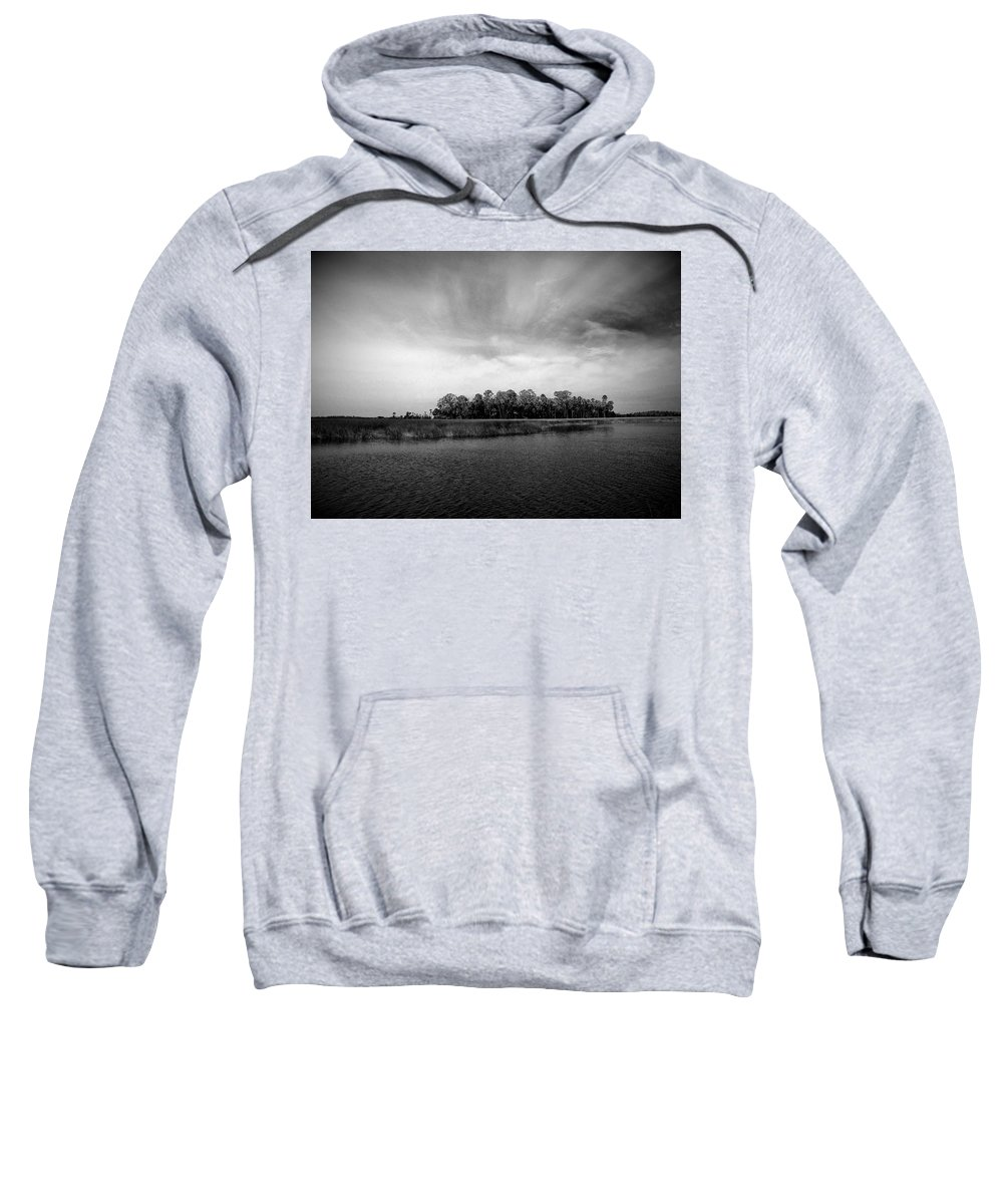 Black Sweatshirt featuring the photograph Storm Genesis by Phil Penne