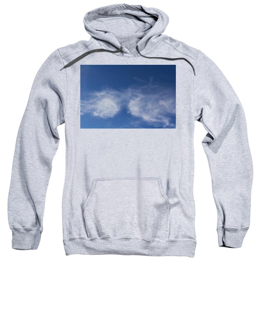 Sky Sweatshirt featuring the photograph Summer Clouds by David Pyatt