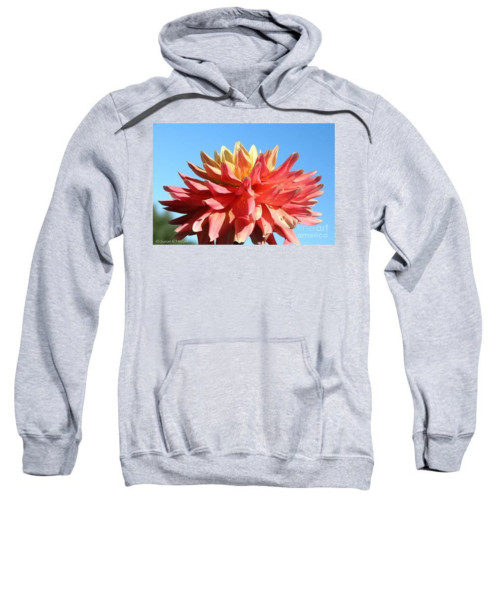 Flower Sweatshirt featuring the photograph Sunny Center by Susan Herber