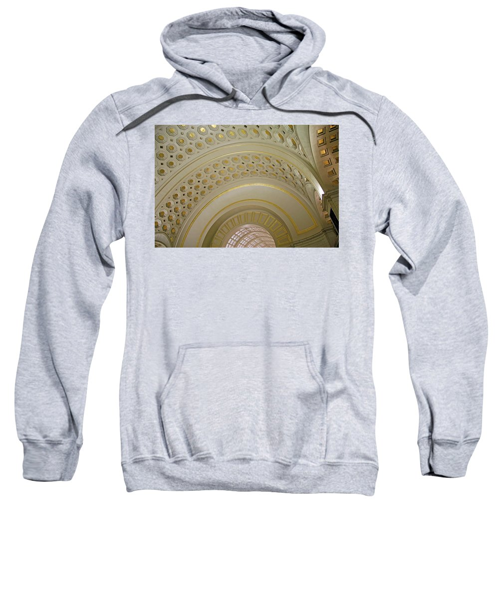 Union Station Sweatshirt featuring the photograph The Ceiling Of Union Station by Cora Wandel