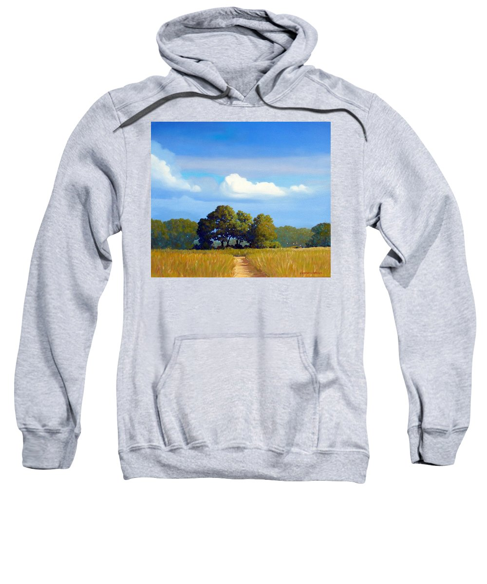 Landscape Sweatshirt featuring the painting The Path by Kevin Lawrence Leveque