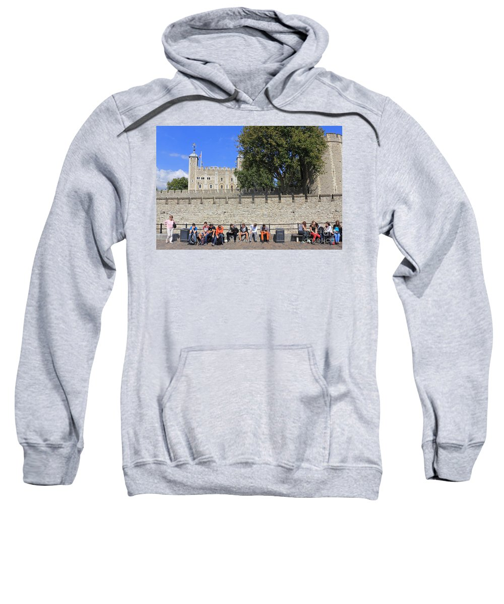 The Tower Of London Sweatshirt featuring the photograph The Tower Of London by Julia Gavin