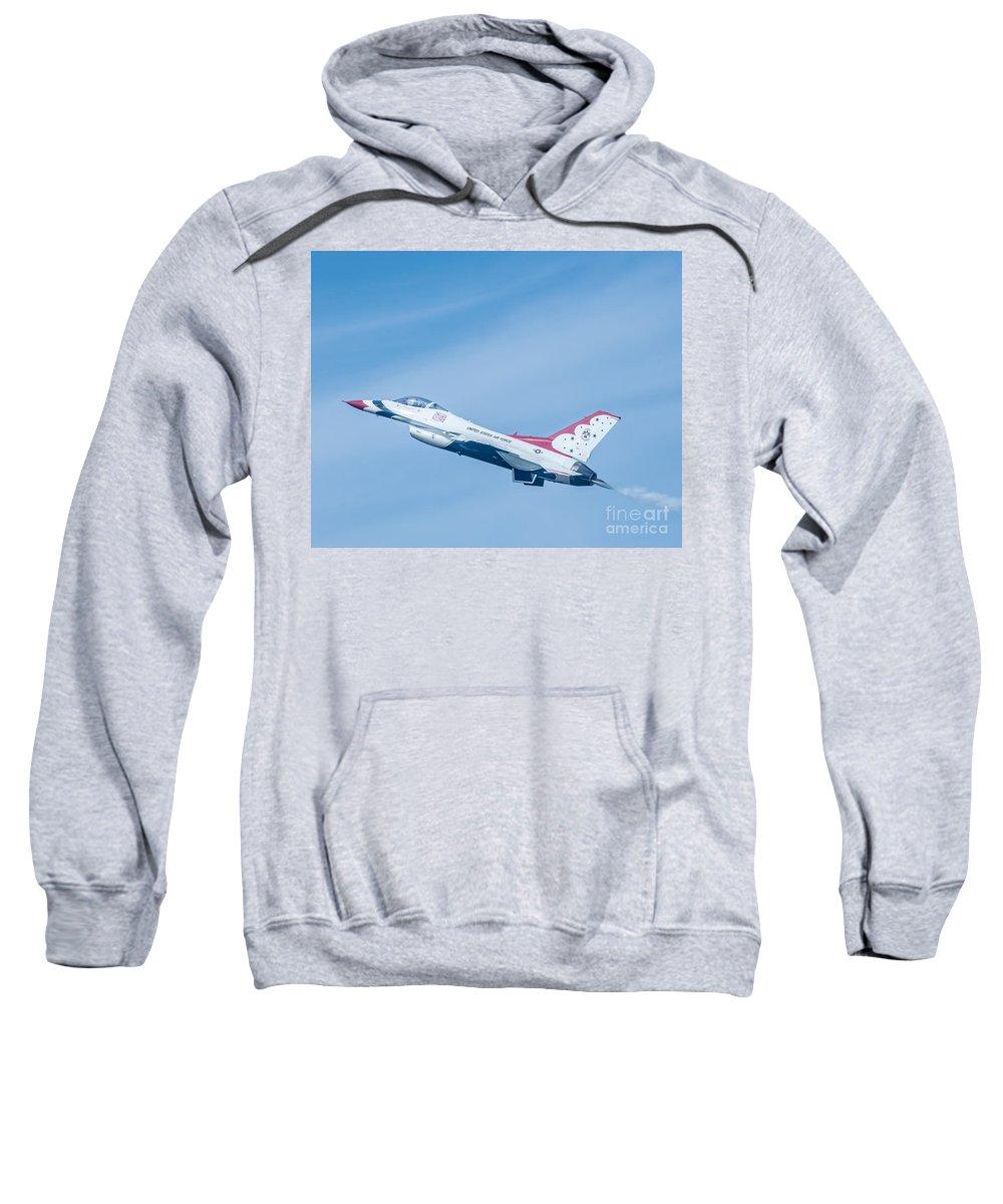 Navy Sweatshirt featuring the photograph Thunderbird by Amel Dizdarevic