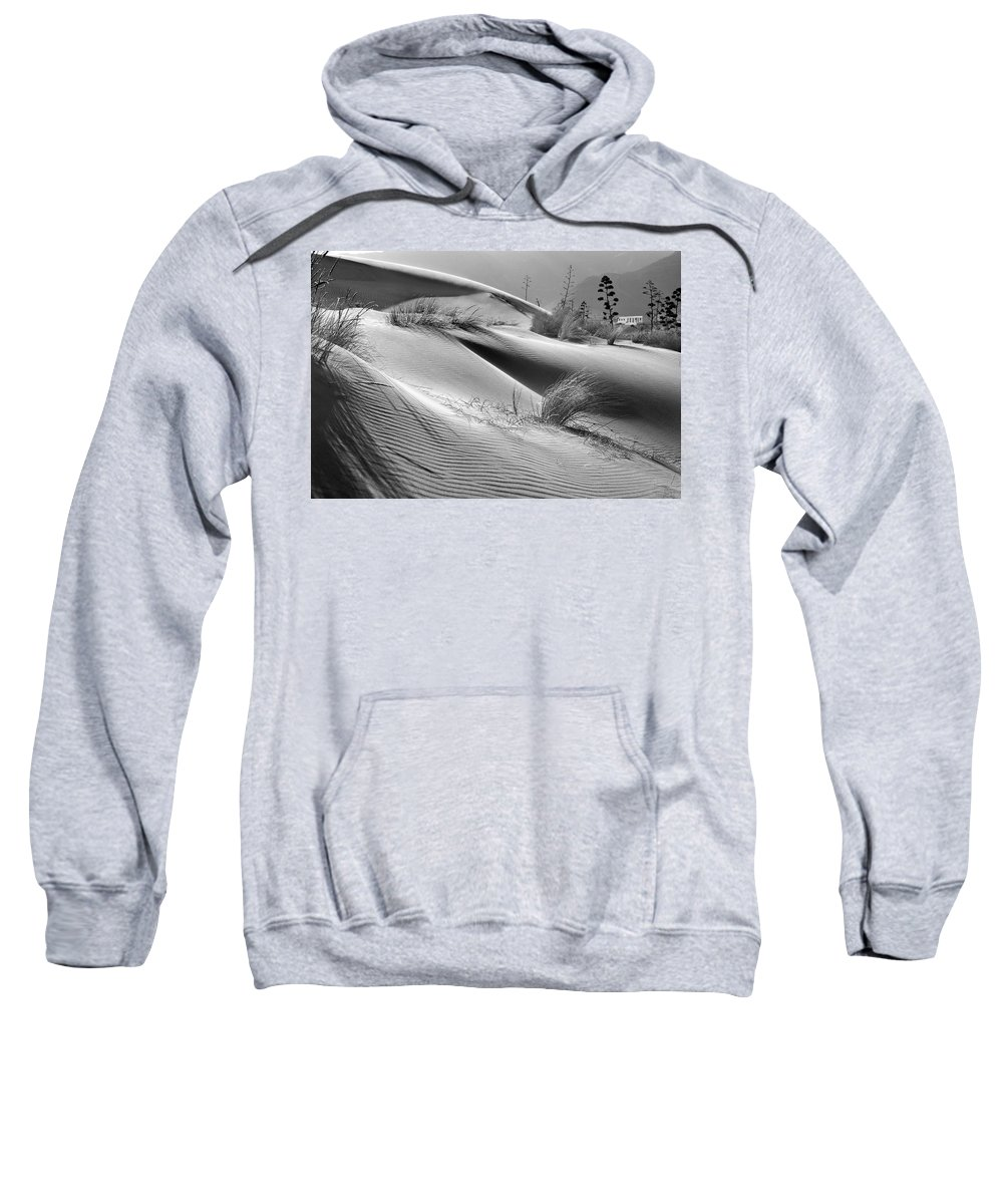 Black And White Sweatshirt featuring the photograph Too Windy by Guido Montanes Castillo
