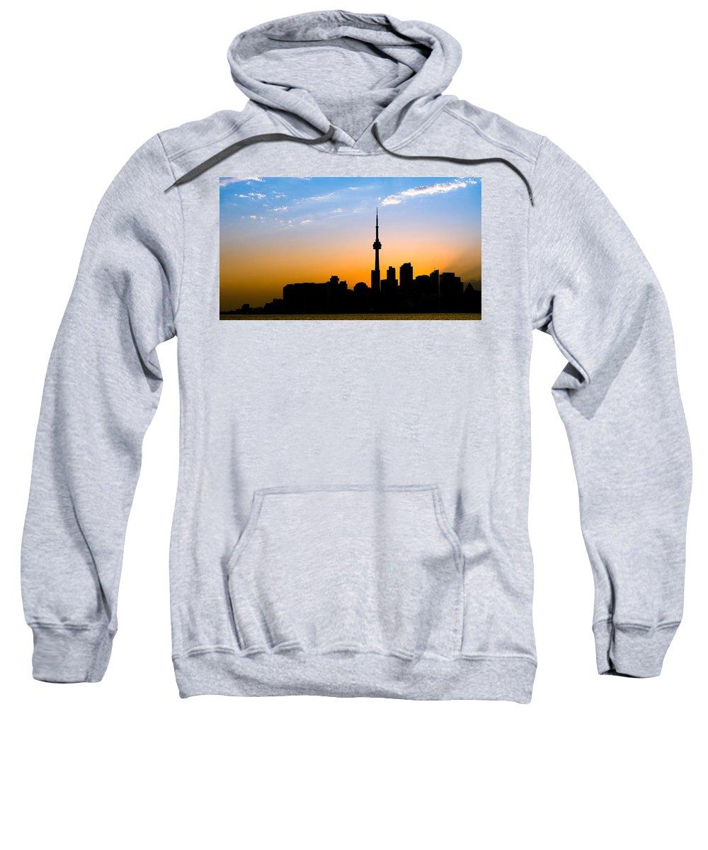 Toronto Sweatshirt featuring the photograph Toronto Skyline by Sebastian Musial
