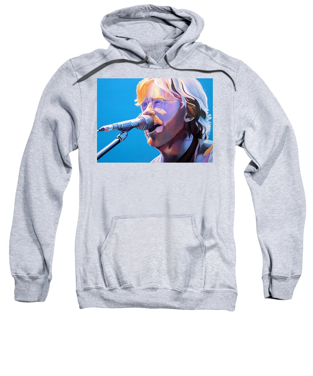 Phish Sweatshirt featuring the drawing Trey Anastasio by Joshua Morton
