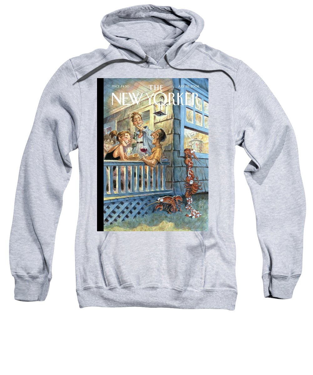 By Peter De Seve Sweatshirt featuring the painting Summer Getaway by Peter de Seve