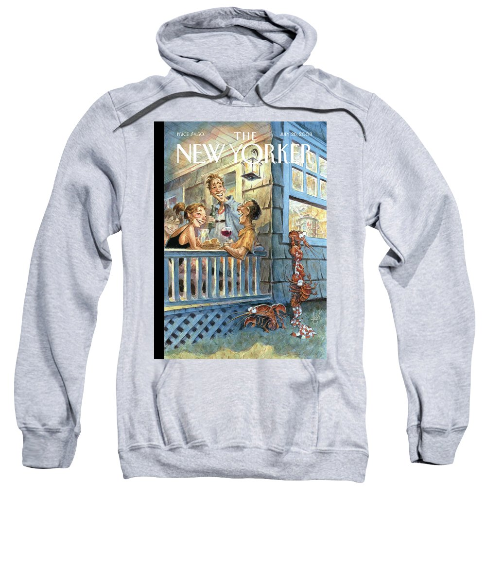 By Peter De Seve Sweatshirt featuring the painting New Yorker July 28th, 2008 by Peter de Seve