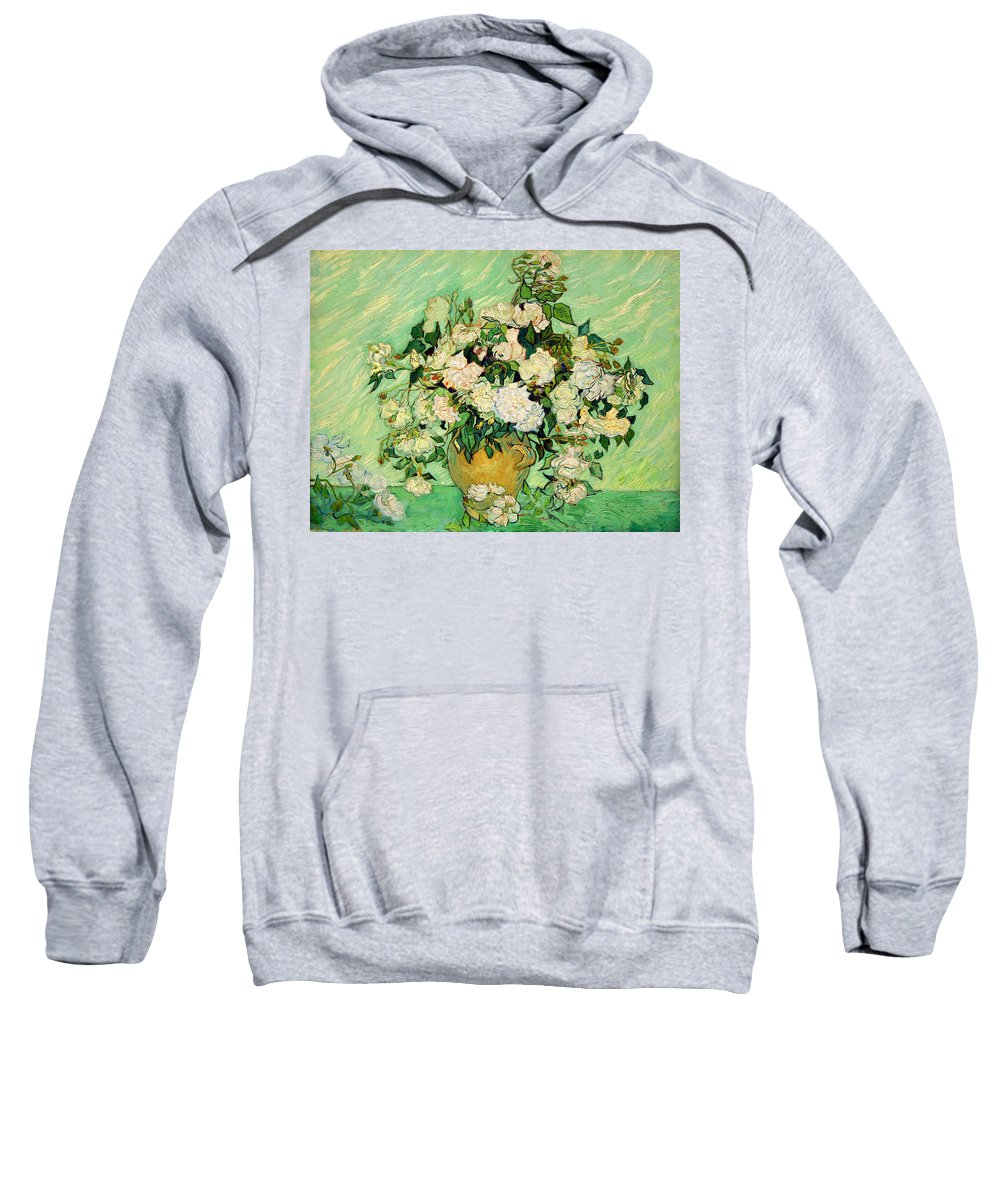 Roses Sweatshirt featuring the photograph Van Gogh's Roses by Cora Wandel