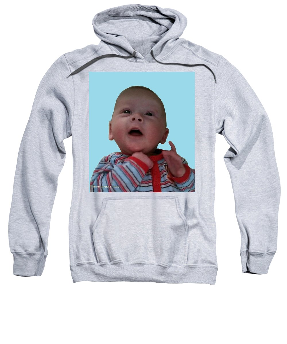Sweatshirt featuring the painting Zachary by Bruce Nutting