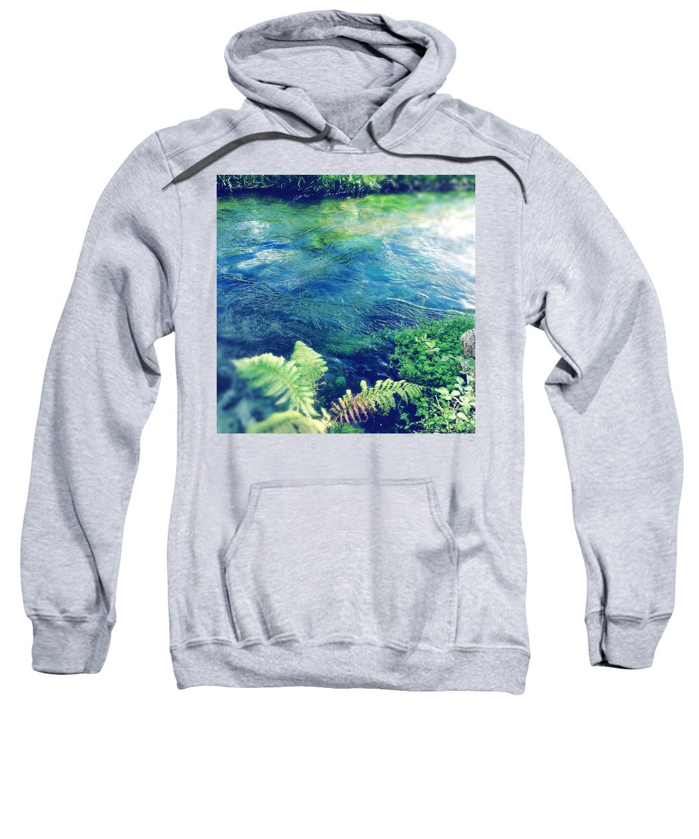 Water Sweatshirt featuring the photograph Spring Water by Les Cunliffe