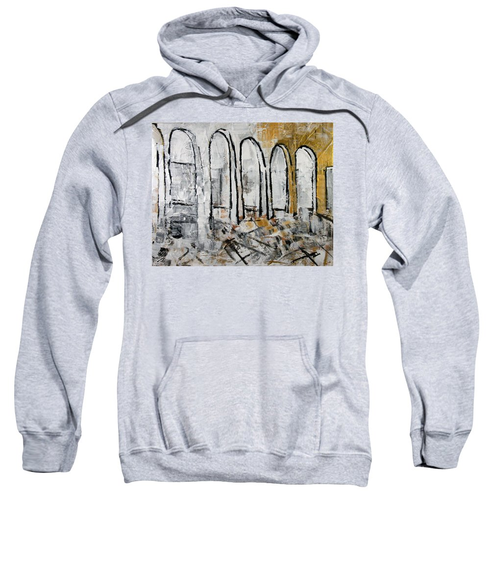 Gold Sweatshirt featuring the painting 2012 095 Mcclean Virginia by Alyse Radenovic