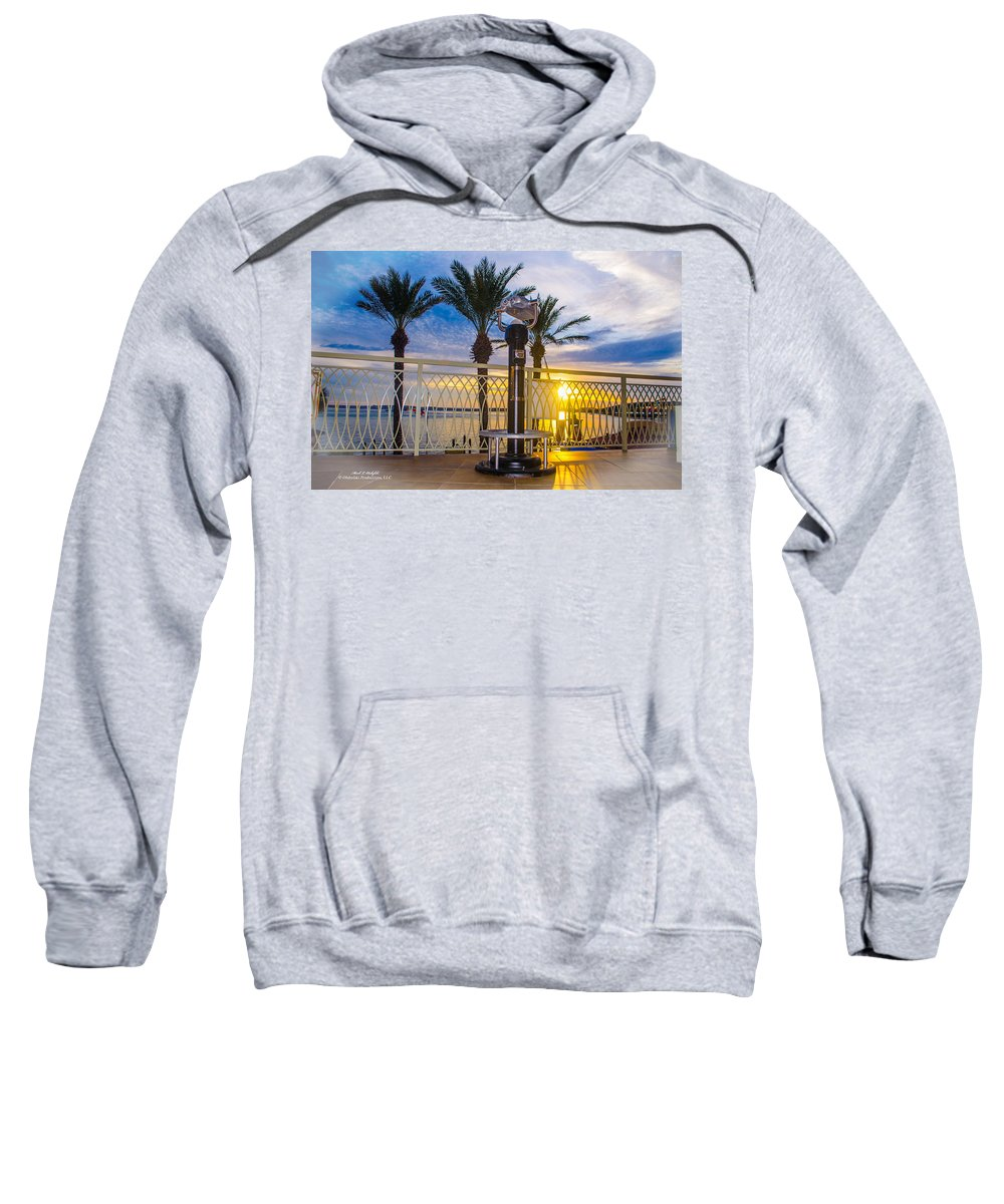 Destin Sweatshirt featuring the photograph 2014 11 11 01 B Destin 0306 by Mark Olshefski