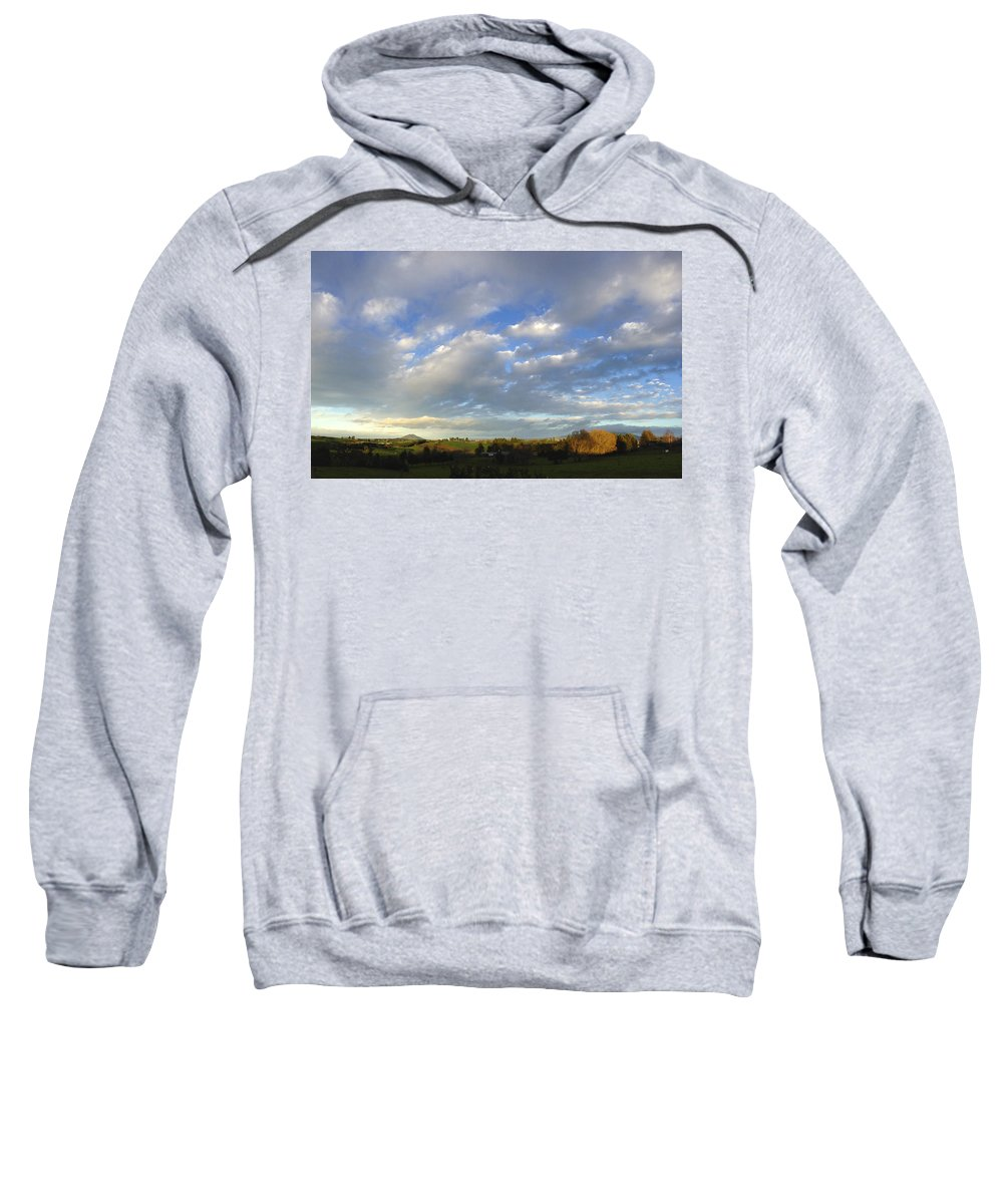 Clouds Sweatshirt featuring the photograph New Zealand by Les Cunliffe