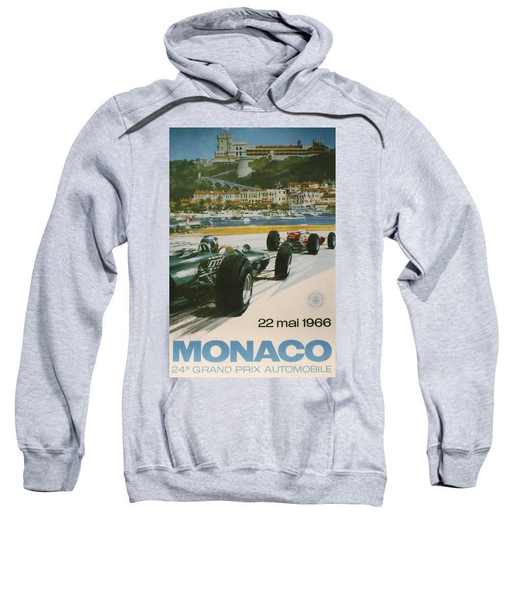 Monaco Grand Prix Sweatshirt featuring the digital art 24th Monaco Grand Prix 1966 by Georgia Fowler