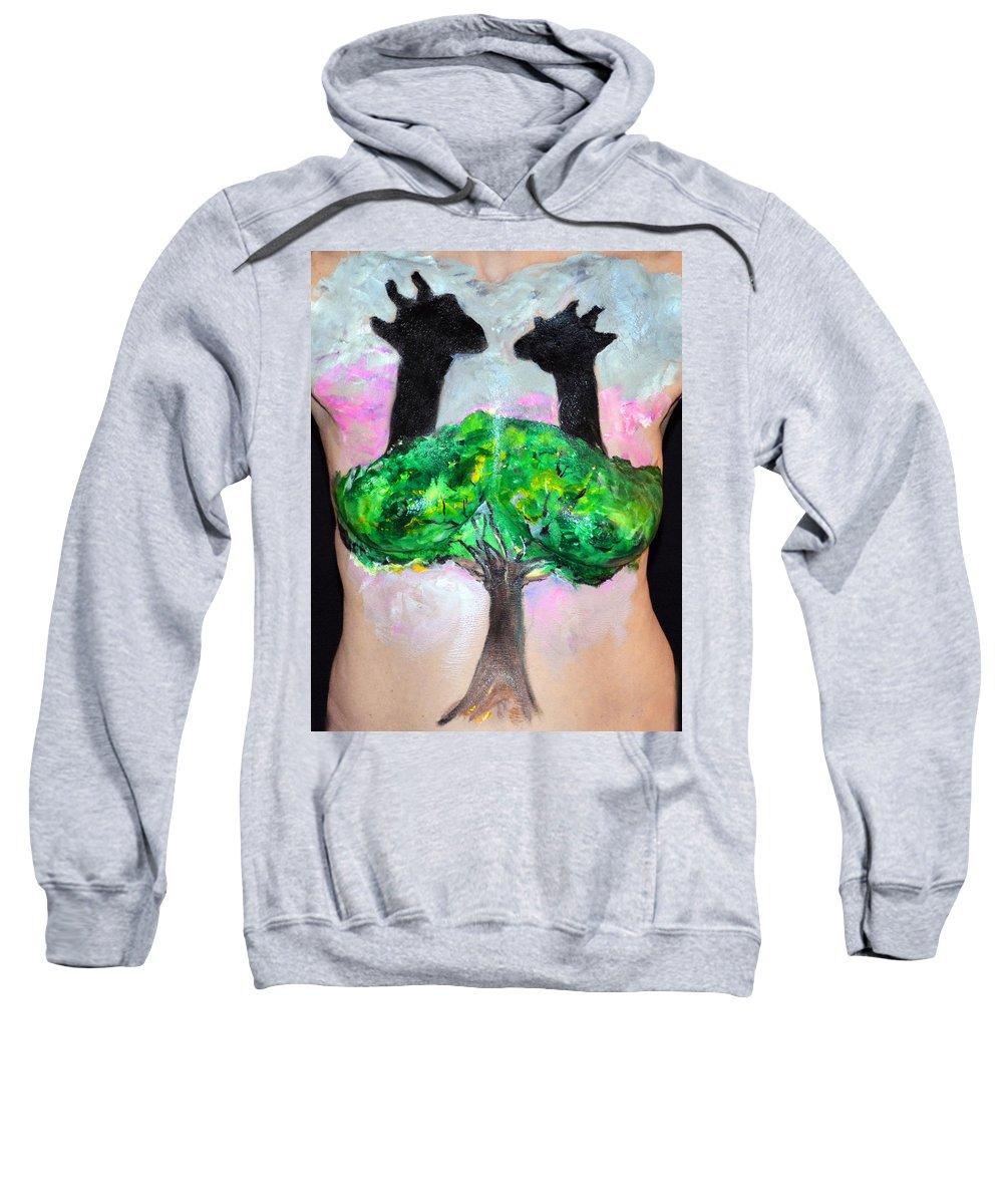 Hadassah Greater Atlanta Sweatshirt featuring the photograph 25. Suzy Scheinberg, Artist, 2015 by Best Strokes - formerly Breast Strokes - Hadassah Greater Atlanta