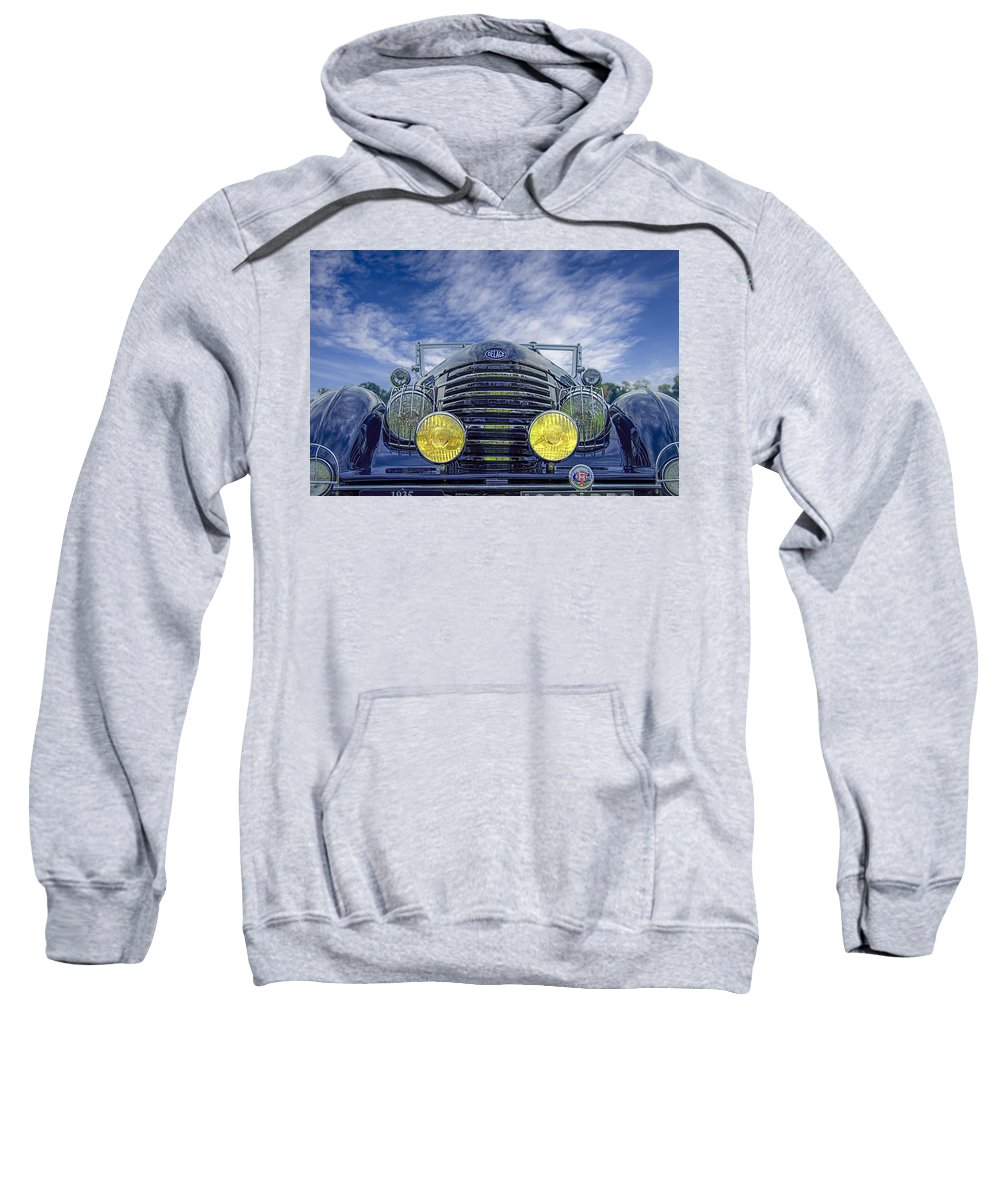 Antique Sweatshirt featuring the photograph 1935 Delage by Jack R Perry