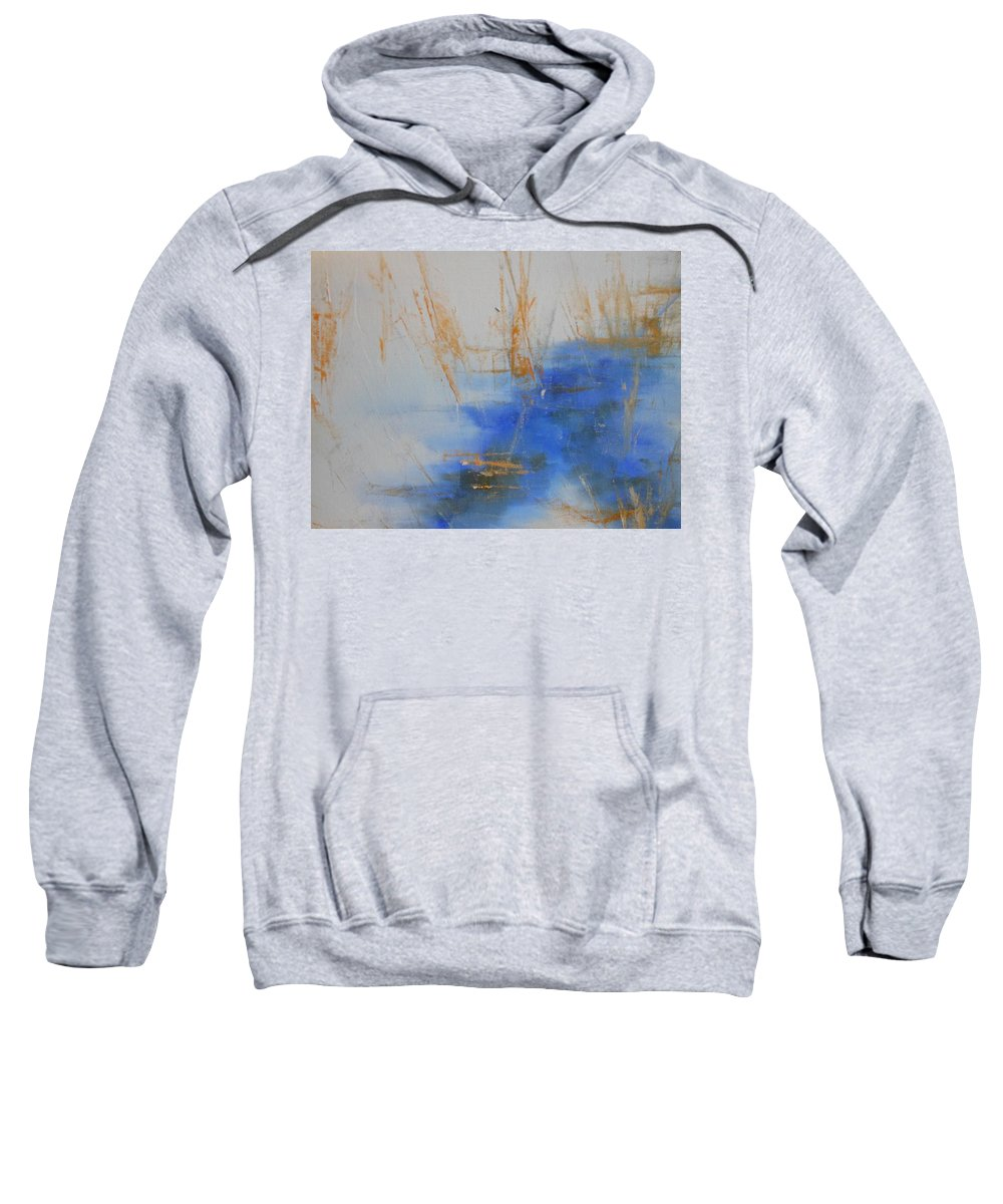 Abstract Sweatshirt featuring the painting Abstract Exhibit by Lord Frederick Lyle Morris - Disabled Veteran