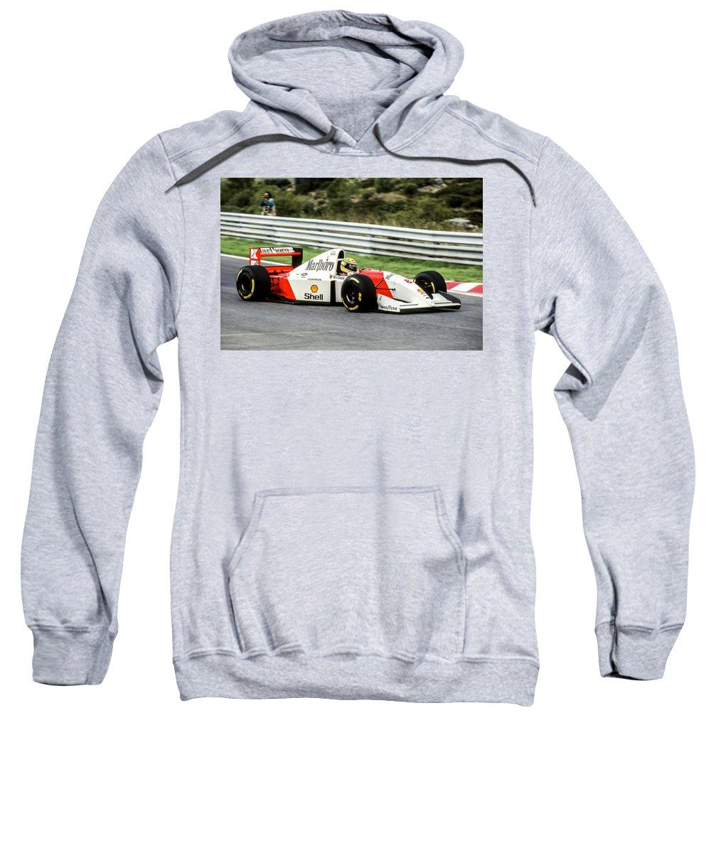 Ayrton Senna Sweatshirt featuring the photograph Ayrton Senna by Jose Bispo
