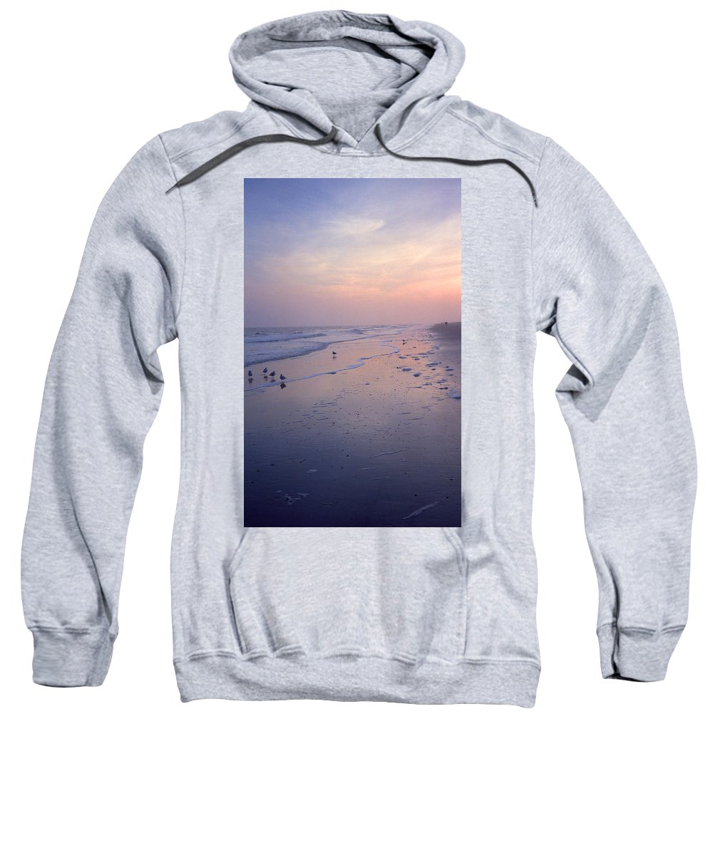 America Sweatshirt featuring the photograph Beach At Dusk by Frank Romeo