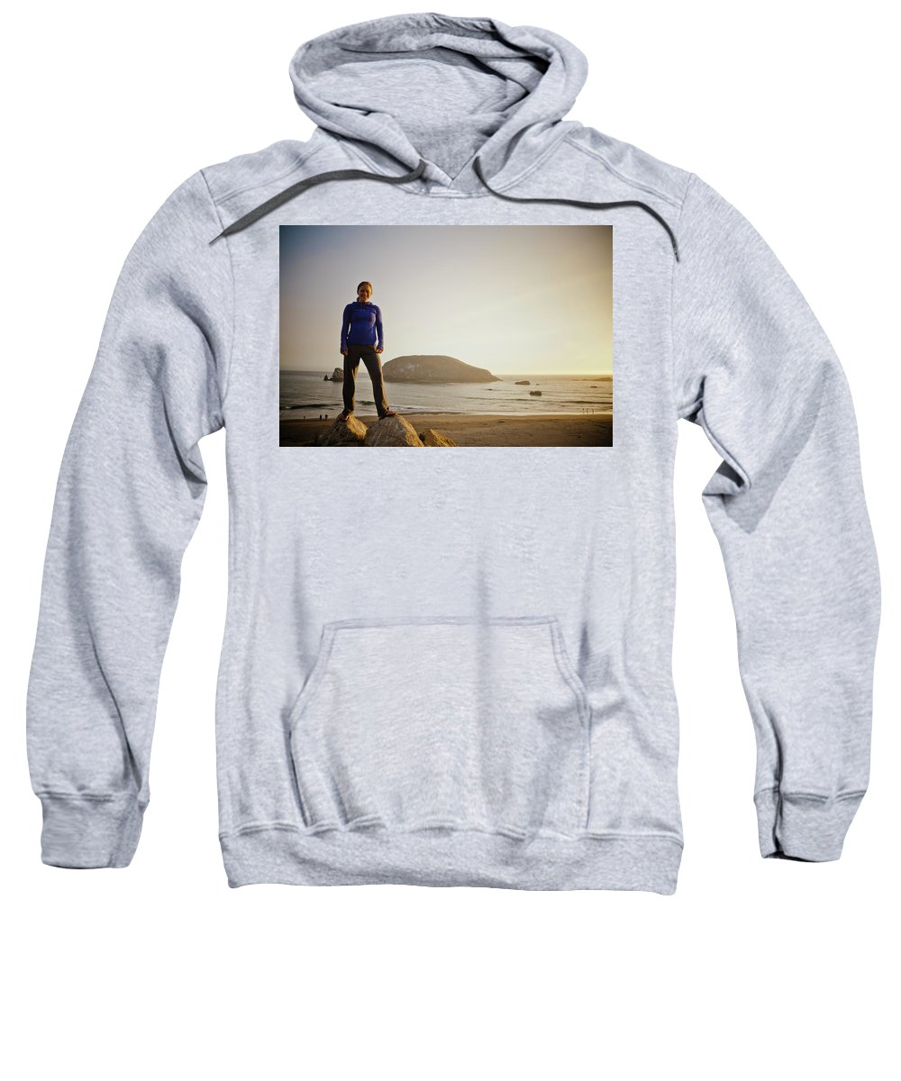 25-29 Years Sweatshirt featuring the photograph Beach by Christopher Kimmel