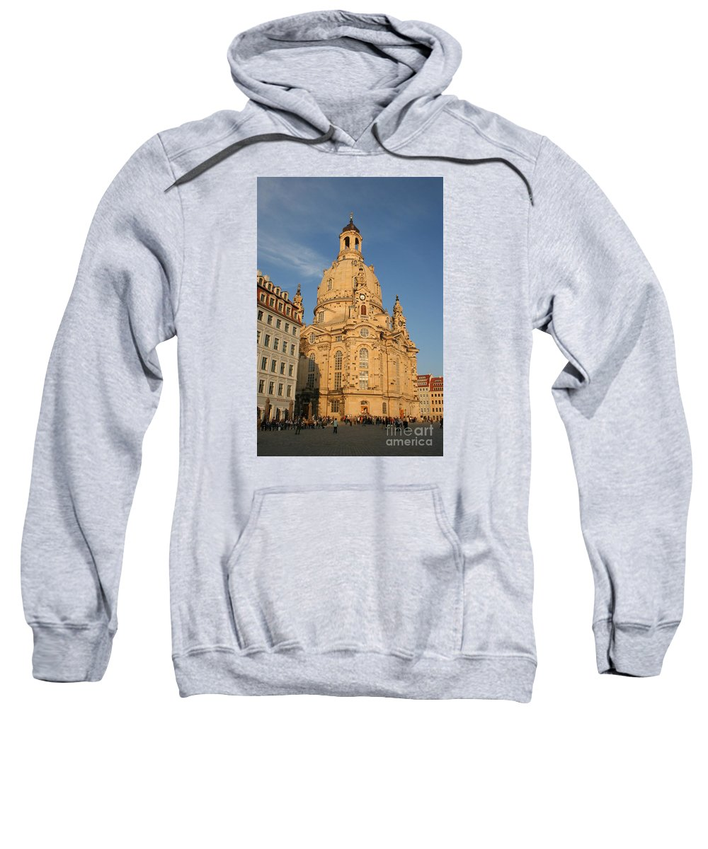 Church Sweatshirt featuring the photograph Church Of Our Lady - Dresden - Germany by Christiane Schulze Art And Photography