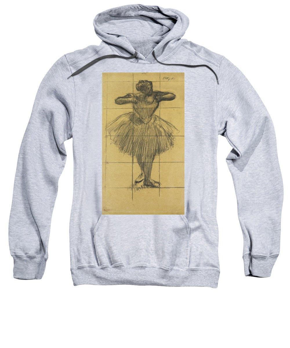 Edgar Degas Sweatshirt featuring the drawing Dancer by Edgar Degas