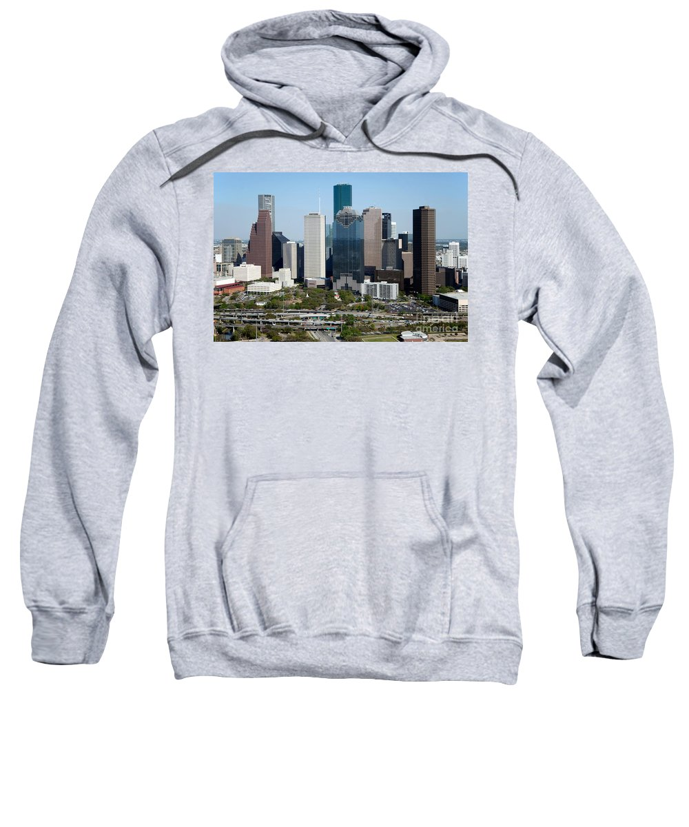 Houston Sweatshirt featuring the photograph Downtown Houston Skyline by Bill Cobb