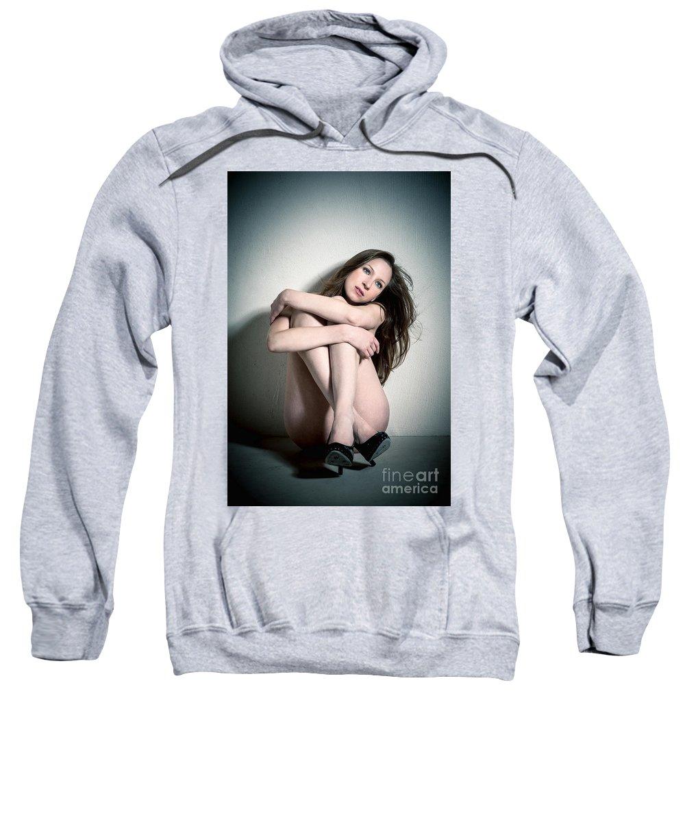 Attractive Sweatshirt featuring the photograph Erotic Beauty by Jochen Schoenfeld