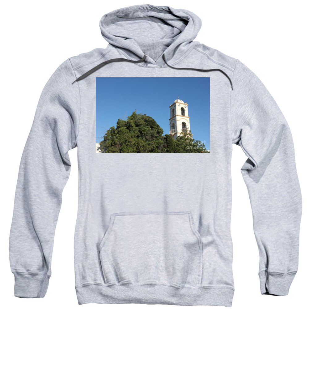Architectural Sweatshirt featuring the photograph Ojai Post Office Tower by Henrik Lehnerer