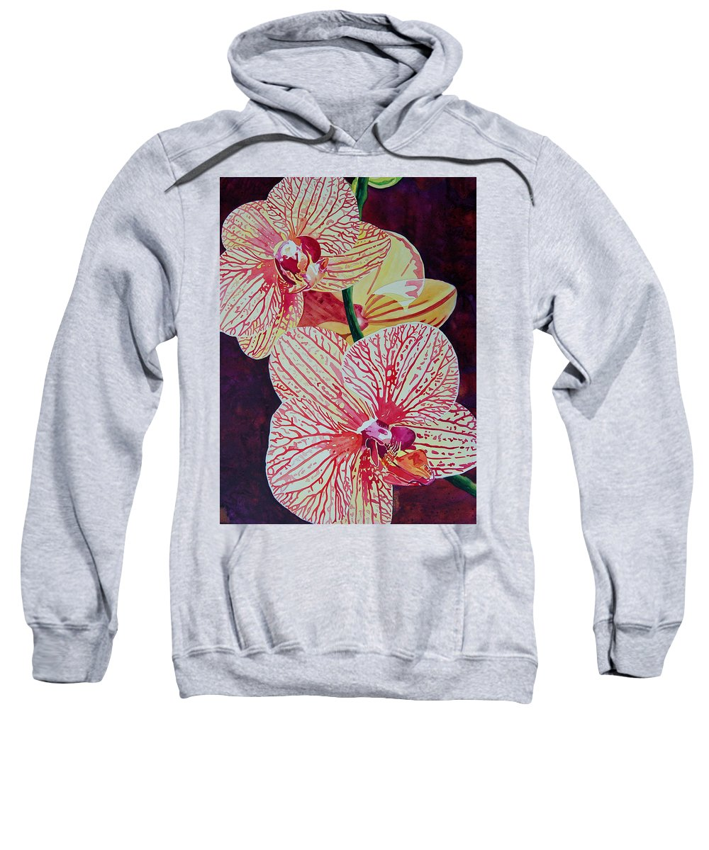 Orchids Sweatshirt featuring the painting Orchids by Terry Holliday
