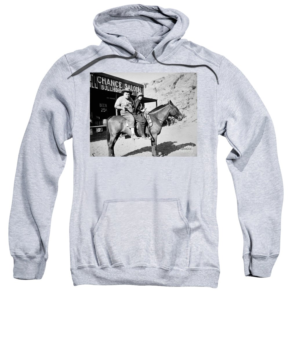 1918 Sweatshirt featuring the photograph Roscoe Fatty Arbuckle by Granger