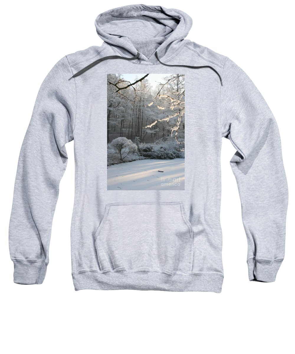 Snow Sweatshirt featuring the photograph Snowy Trees Landscape by Christiane Schulze Art And Photography