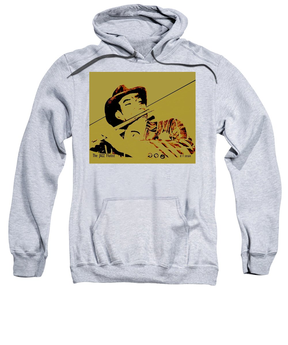 Fineartamerica.com Sweatshirt featuring the painting The Jazz Flutist by Diane Strain