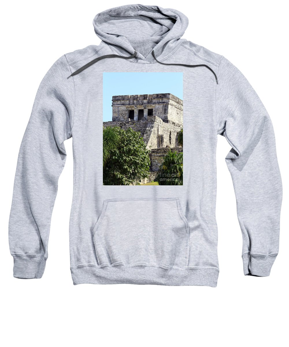 Tulum Ruins Sweatshirt featuring the photograph Tulum Ruins Mexico by Kathy DesJardins