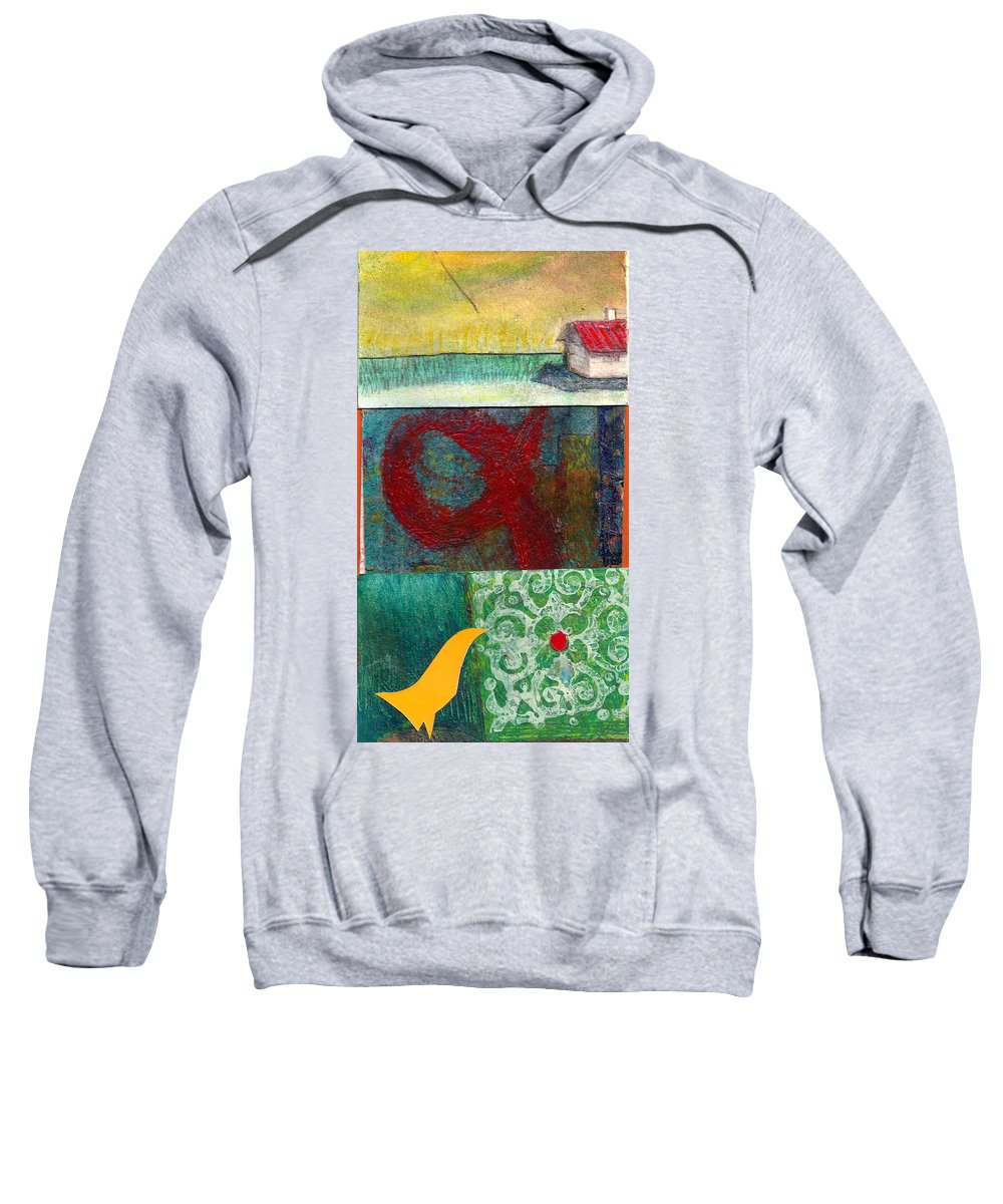 House Sweatshirt featuring the painting 3 Way 2 by James Raynor