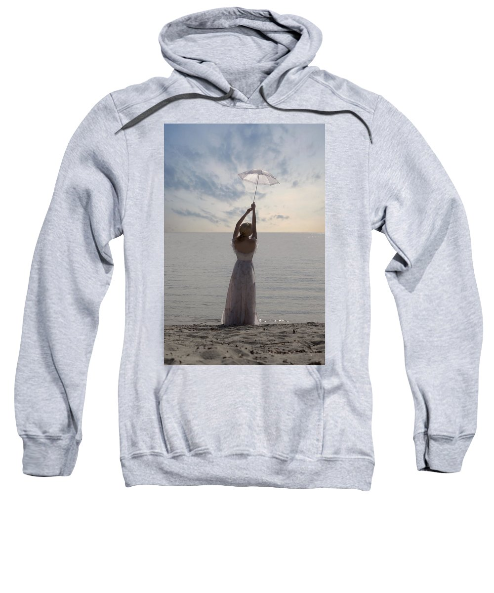 Woman Sweatshirt featuring the photograph Woman At The Beach by Joana Kruse