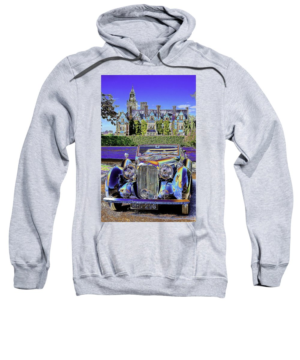 Psychedelic Sweatshirt featuring the photograph Psychedelic Classic Lagonda by Peter Lloyd