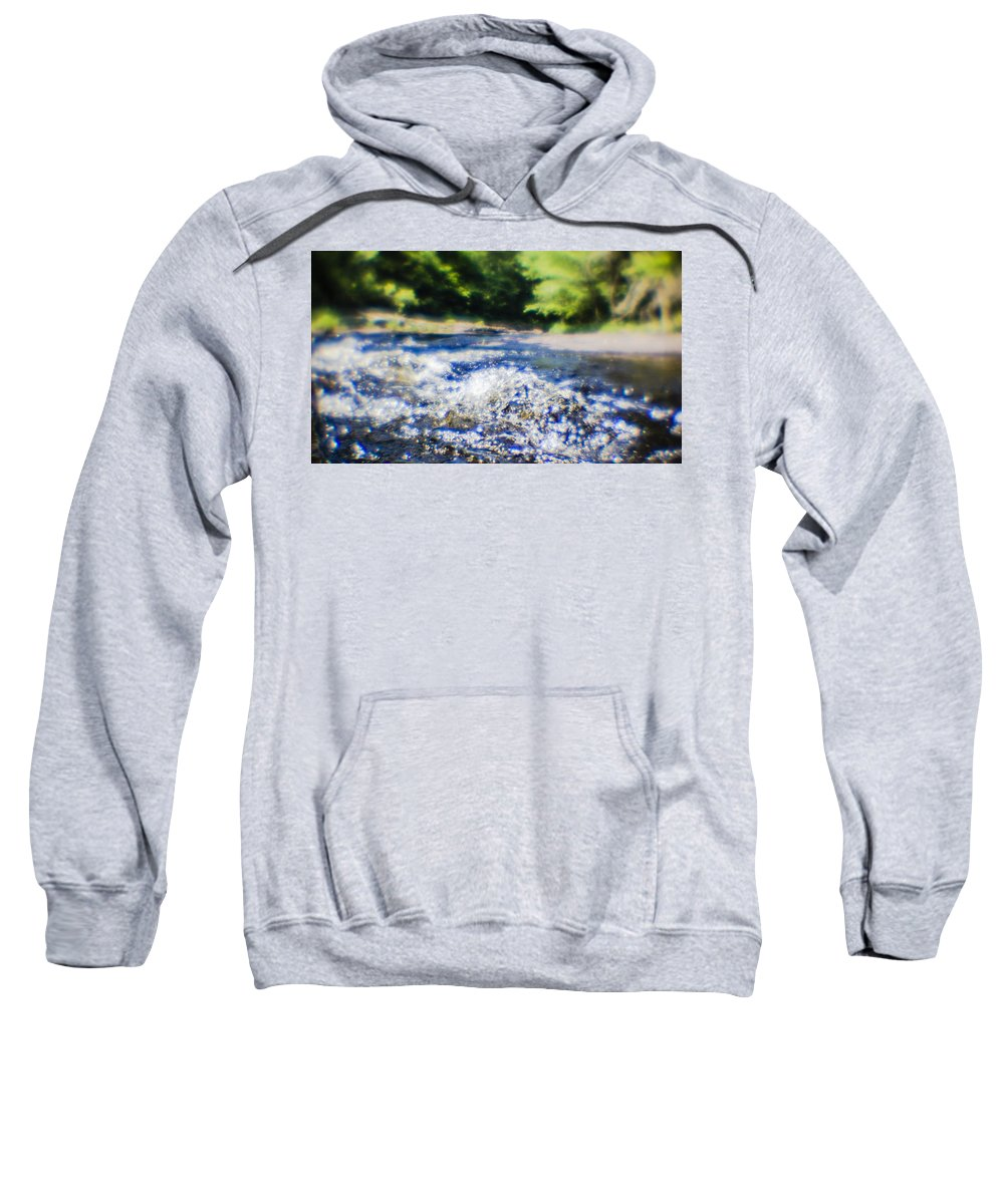 Water Sweatshirt featuring the photograph The Stream In Mountain by Alex Potemkin