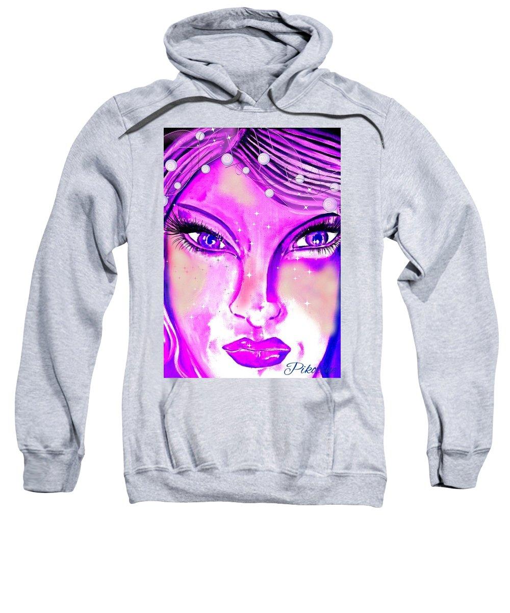 Pikotine Sweatshirt featuring the painting Okarine3 by Pikotine Art