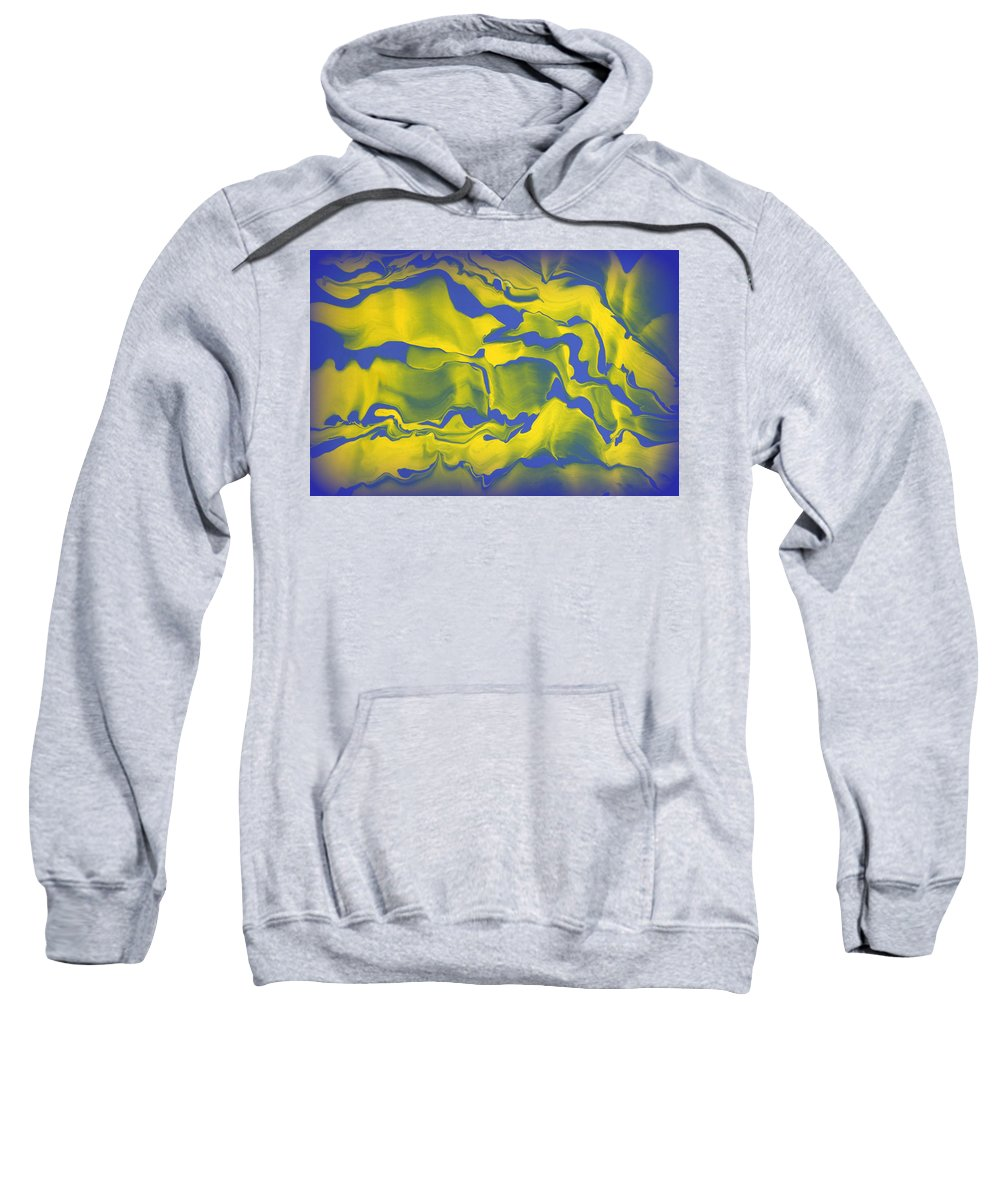 Original Sweatshirt featuring the painting Abstract 106 by J D Owen