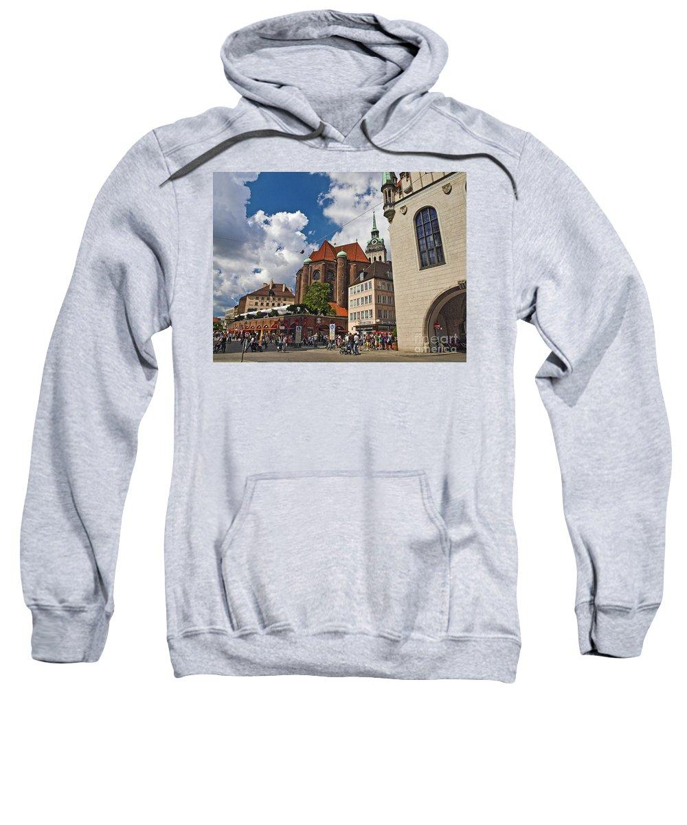 Munich Sweatshirt featuring the photograph Munich Germany by Howard Stapleton
