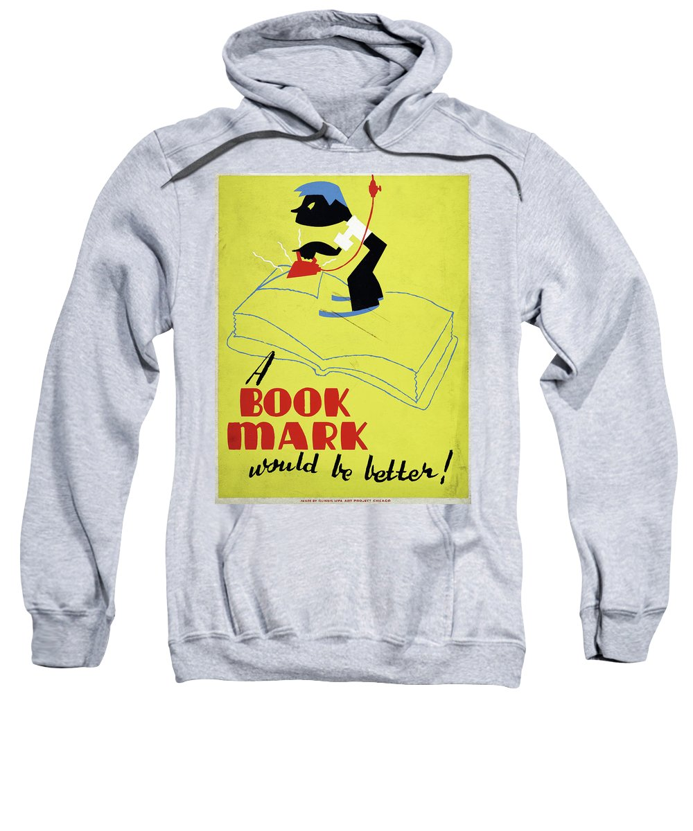 1938 Sweatshirt featuring the drawing Poster Books, C1938 by Granger