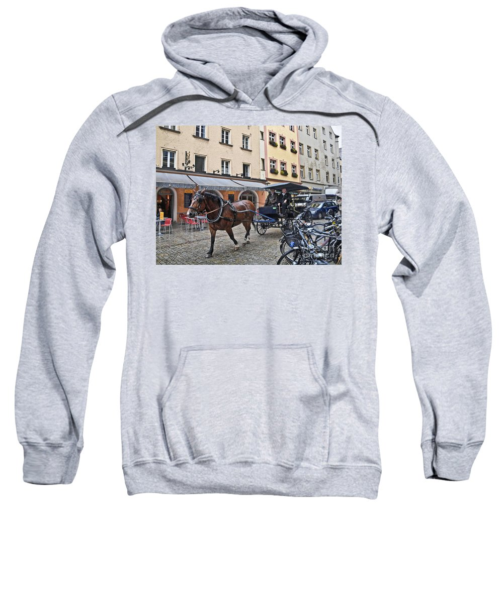 Regensburg Sweatshirt featuring the photograph Regensburg Germany by Howard Stapleton