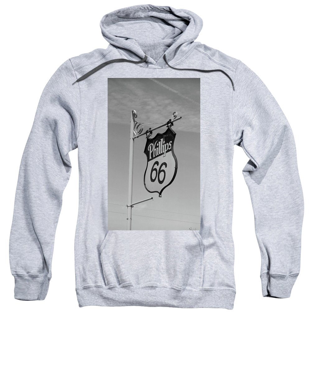 66 Sweatshirt featuring the photograph Route 66 - Mclean Texas by Frank Romeo