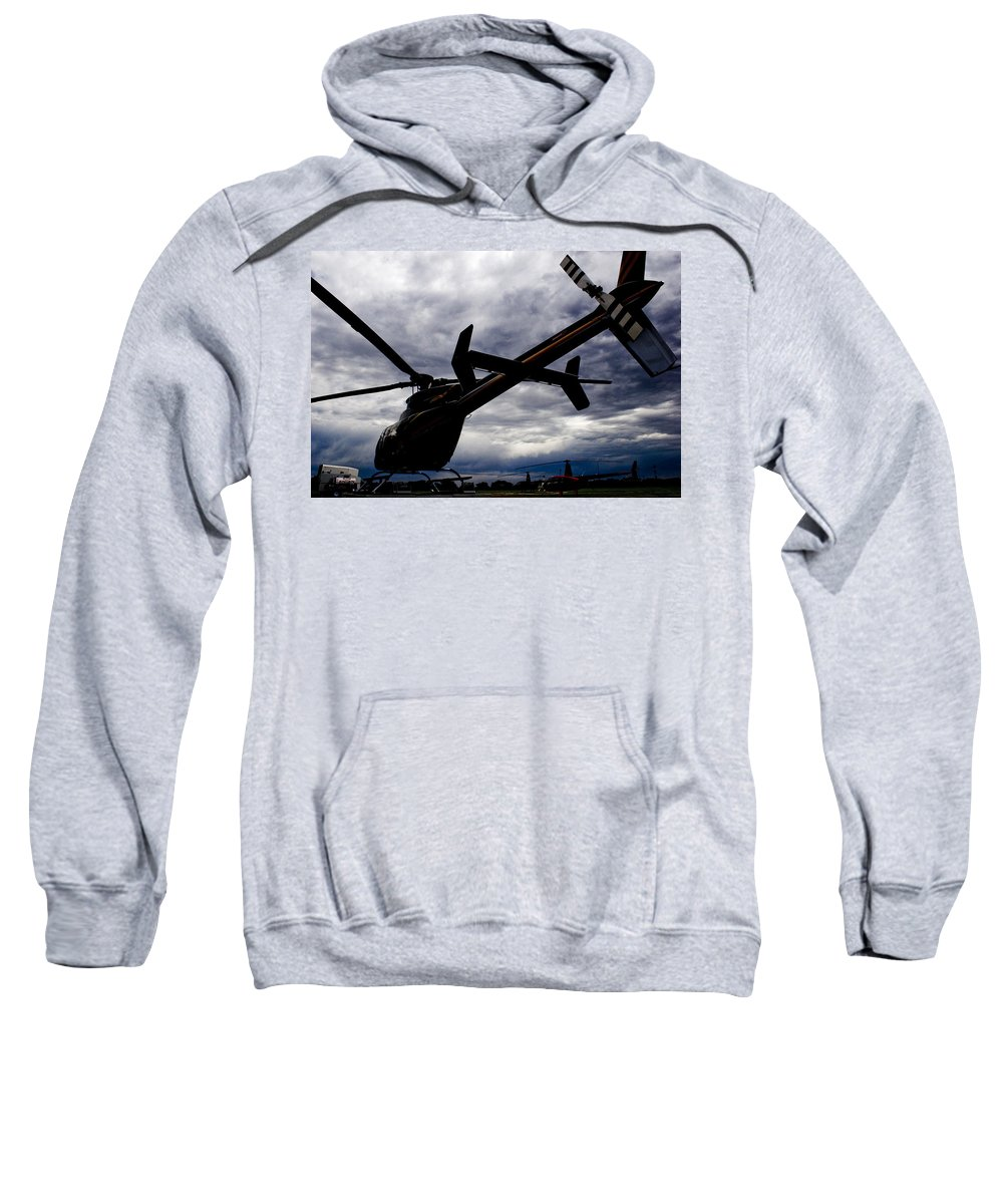 Bell 407 Sweatshirt featuring the photograph 407 Clouds by Paul Job