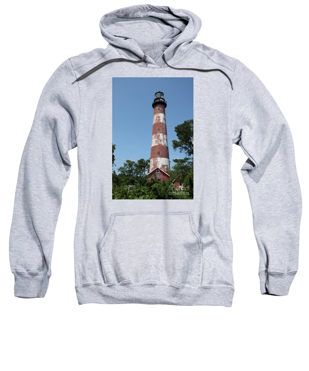 Lighthouse Sweatshirt featuring the photograph Assateague Lighthouse by Christiane Schulze Art And Photography
