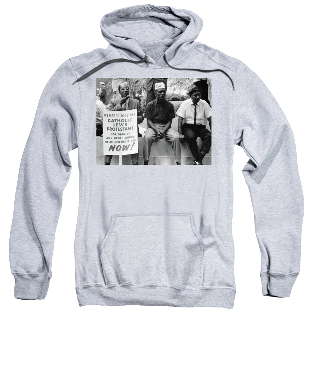 1965 Sweatshirt featuring the photograph Civil Rights March, 1965 by Granger