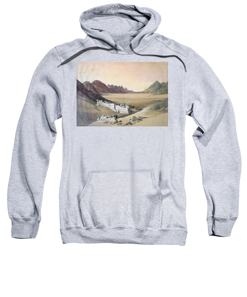 1845 Sweatshirt featuring the painting Mount Sinai Monastery by Granger
