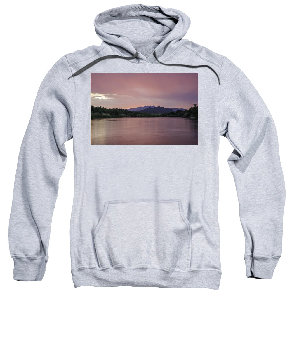 Landscape Sweatshirt featuring the photograph Pink Glow by Lorraine Harrington